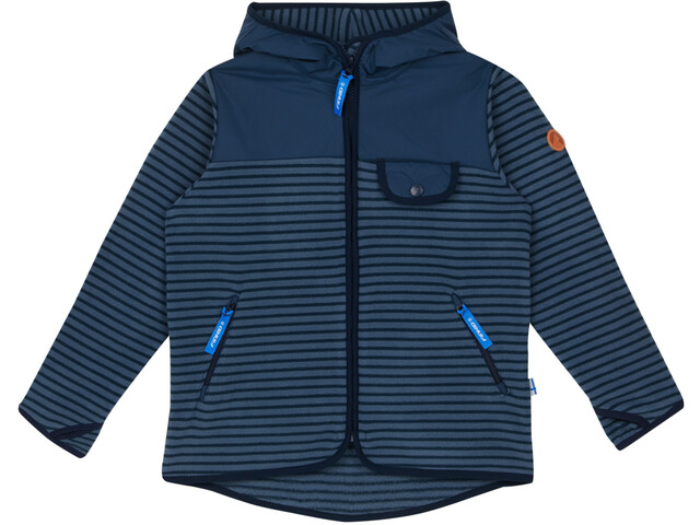 Finkid Mukava Fleece Jacket Barn blue mirage/navy